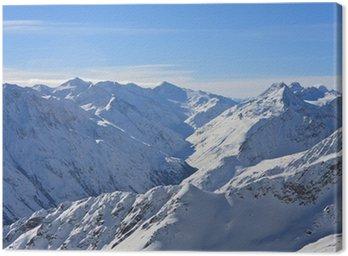Obraz na Płótnie Góry pod śniegiem w zimie. Alpy. Solden. Austria