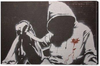 Obraz na Płótnie Graffiti Banksy'ego na festiwalu puszki, Londyn