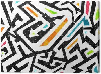 Obraz na Płótnie Graffiti - bez szwu