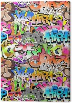 Obraz na Płótnie Graffiti bezszwowe tło. miejskich sztuki tekstury