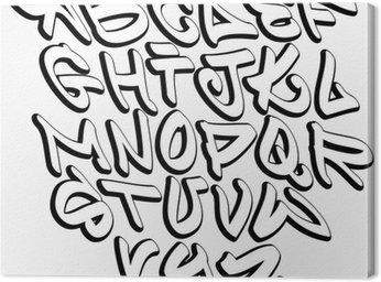 Graffiti czcionki liter alfabetu. hip hop graffiti konstrukcja typu