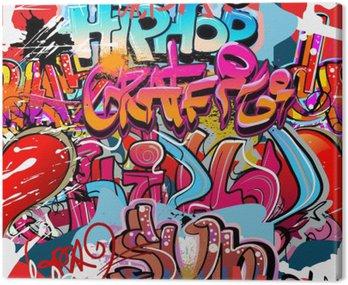 Obraz na Płótnie Graffiti, hip hop miejska sztuka tło