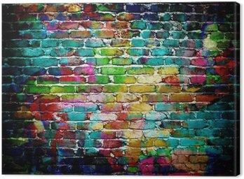 Obraz na Płótnie Graffiti mur ceglany