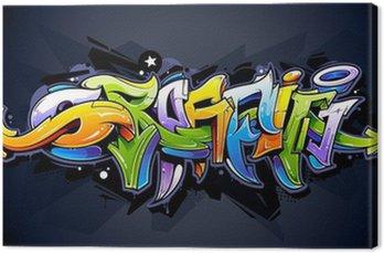 Obraz na Płótnie Graffiti, napis jasny