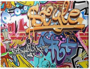Obraz na Płótnie Graffiti ściany. tła miejskiego sztuki wektor. powtarzalne tekstury