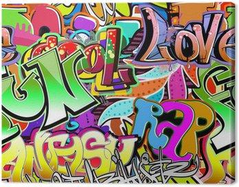 Obraz na Płótnie Graffiti ściany. tła miejskiego sztuki wektor. powtarzalne wzór