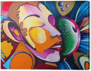 Obraz na Płótnie Graffiti twarz