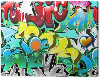 Obraz na Płótnie Graffiti Urban Art tle. powtarzalne projekt