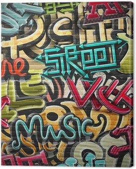 Obraz na Płótnie Graffiti w tle