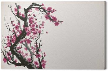 Obraz na Płótnie Grafika wektorowa gałęzi kwitnących