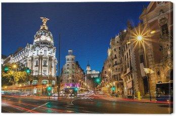 Obraz na Płótnie Gran Via w Madrycie, Hiszpania, Europa.