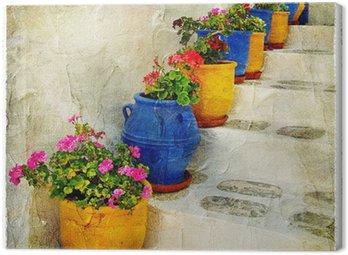 Obraz na Płótnie Greckie ulice szczegóły. picure artystyczne
