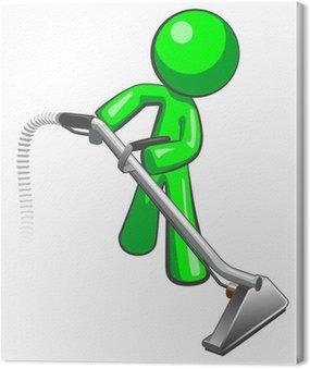 Obraz na Płótnie Green Man z czystszego wylotu pary dywan
