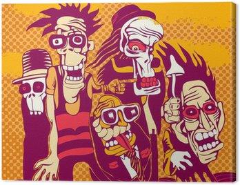 Obraz na Płótnie Grunge background z halloween osoba, na okładkę płyty