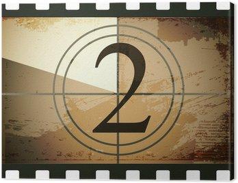 Obraz na Płótnie Grunge film countdown