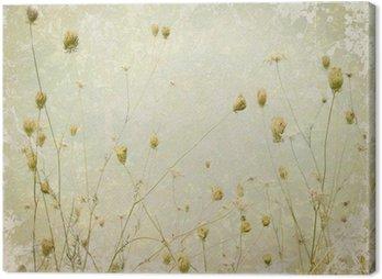 Obraz na Płótnie Grunge Flower Meadow Pale sztuka tło