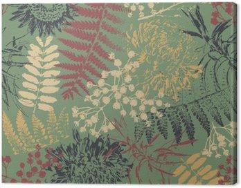 Obraz na Płótnie Grunge kwiatów i liści