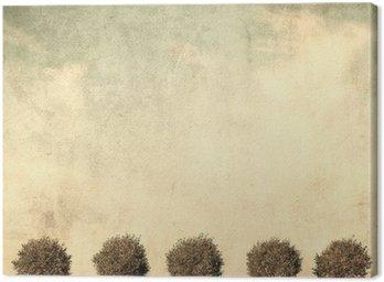Obraz na Płótnie Grunge obraz drzewa