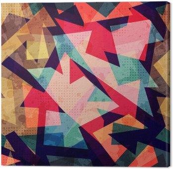 Obraz na Płótnie Grunge szwu wzór geometryczny