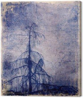 Obraz na Płótnie Grunge tła z drzewa modrzewiowego
