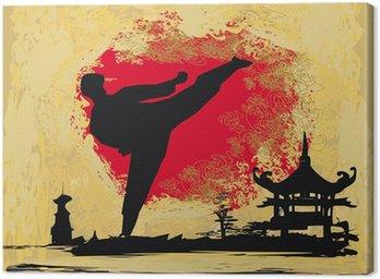Obraz na Płótnie Grunge tle karate