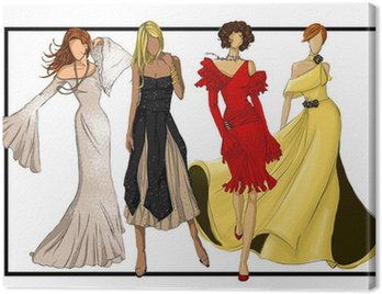 Obraz na Płótnie Grupa projektantów mody