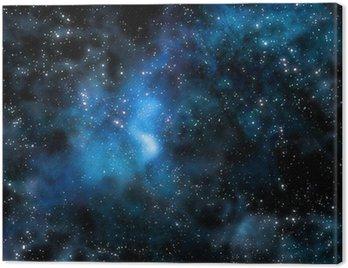 Obraz na Płótnie Gwiaździsta Mgławica głębokiej przestrzeni kosmicznej i galaxy