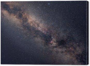 Obraz na Płótnie Gwiaździste niebo noc