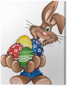 Happy Easter Królik gospodarstwa jajka