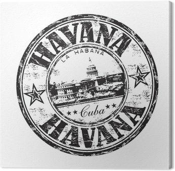 Obraz na Płótnie Hawana pieczątka grunge