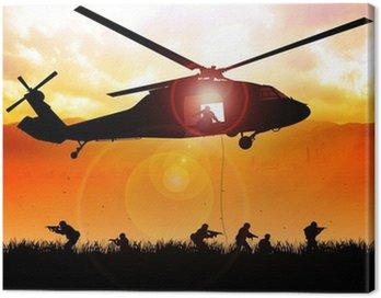 Obraz na Płótnie Helikopter spada wojska
