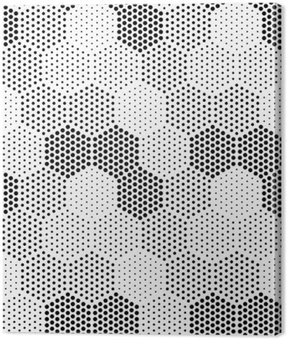 Obraz na Płótnie Hexagon Illusion Wzór