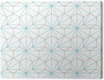 Obraz na Płótnie Hexagone-cube géométrique