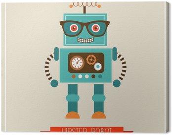 Obraz na Płótnie Hipster robot toy icon