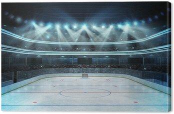 Obraz na Płótnie Hokej na stadion z widzów i pusty lodowisko