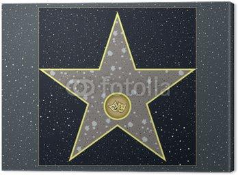 Obraz na Płótnie Hollywood Walk of Fame: live gwiazda teatru w wektorze