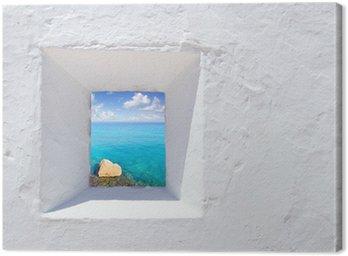 Obraz na Płótnie Ibiza biała ściana okno śródziemnego