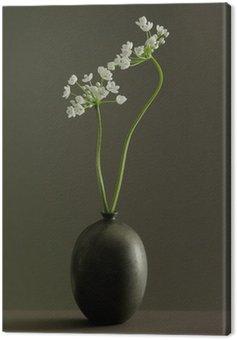 Obraz na Płótnie Ikebana mały kwiat w wazonie