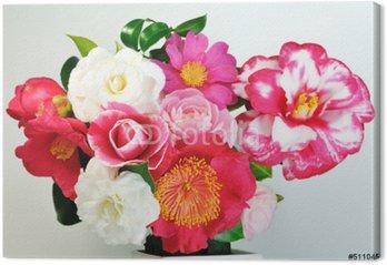 Obraz na Płótnie Ikebana z kamelii