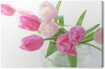 Obraz na Płótnie Ikebana z kolorowym tulipanów wiosną