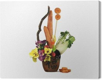 Obraz na Płótnie Ikebana z marchwi