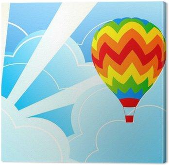 Obraz na Płótnie Ilustracja balon rozum powietrze i niebieskie niebo