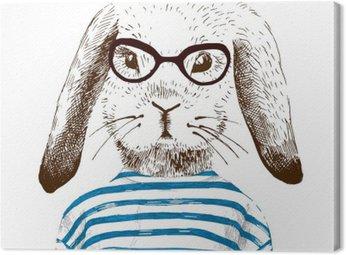 Obraz na Płótnie Ilustracja przebrany królika