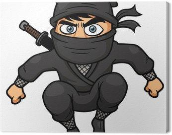Obraz na Płótnie Ilustracja wektorowa Cartoon Ninja