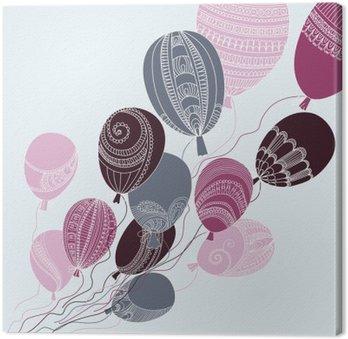 Obraz na Płótnie Ilustracja z kolorowych balonów latających