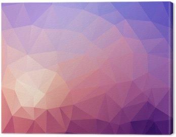 Ilustracja z kolorowym poligonal abstrakcyjnym tle.