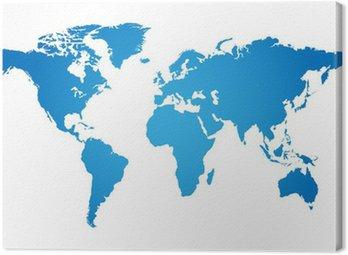 Obraz na Płótnie Ilustracji mapa świata
