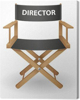 Obraz na Płótnie Ilustracji wektorowych krzesło reżysera