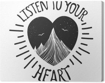 Obraz na Płótnie Ilustracji wektorowych z góry wewnątrz serca