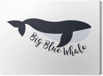Obraz na Płótnie Ilustracji wektorowych z wieloryba. symbol projektu